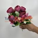 Pastel Fuşya Küçük Şakayık ÇiçeğiPastel Fuşya Küçük Şakayık Çiçeği