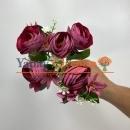 Pastel Fuşya Küçük Şakayık Çiçeği