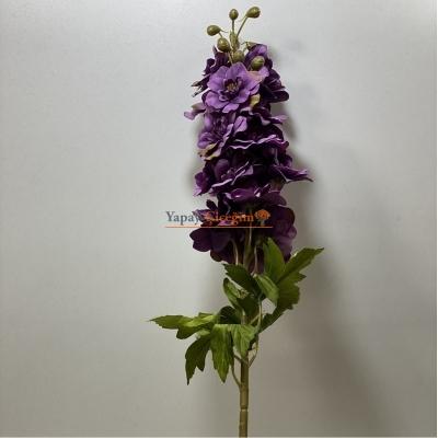 Mor Yapay Şebboy Çiçek Uzun Saplı Uzun Vazolar ve Süslemeler İçin