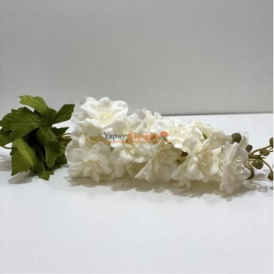 Krem Yapay Şebboy Çiçek Uzun Saplı Uzun Vazolar ve Süslemeler İçin