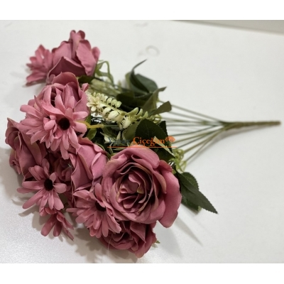 Pembe Gül Kaliteli Yapay Çiçek Demeti 1966