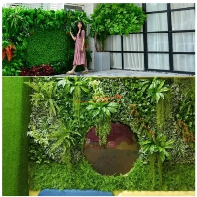Yapay Çiçek Duvar Kaplama Panel Şimşir Tabaka