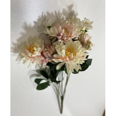 Somon Krem Büyük Papatya Yapay Çiçek - 2159