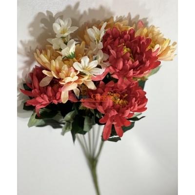 Kırmızı Turuncu Büyük Papatya Yapay Çiçek - 2161