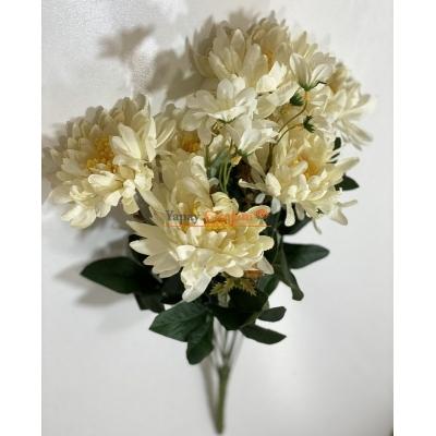 Krem Büyük Papatya Yapay Çiçek - 2162