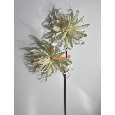 Krem Zambak - Köpük Çiçek - Büyük Yapay Çiçek - 2219