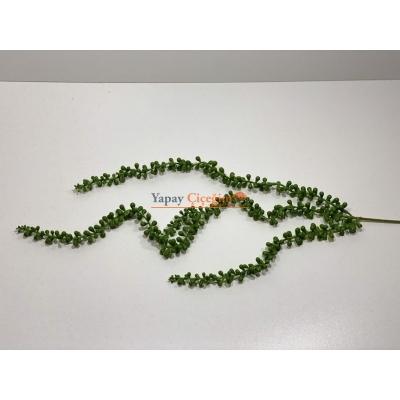 Yeşil Sarkan Plastik Boncuk Garnitür - Yapay Çiçek - 2245