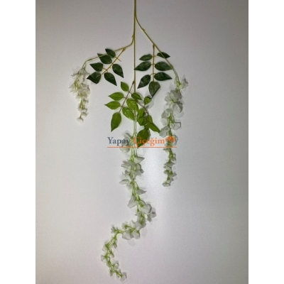 Krem Ucuz Akasya Sarkan Yapay Çiçek - 2458