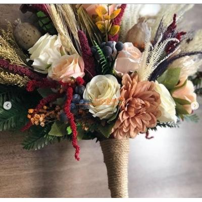 Kuru Çiçekli Gelin Çiçegi - Gelin En Buketi - 001