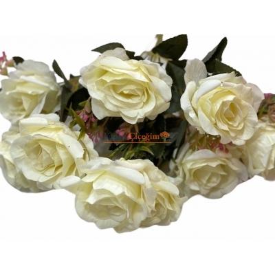 Krem yapay Çiçek Modelleri