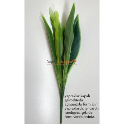 Büyük Krem ve Yeşil Yaprak Demeti