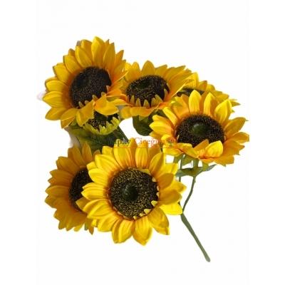 Demet Ayçiçeği Yapay Çiçek - Yapay Demet Gündöndü Çiçeği