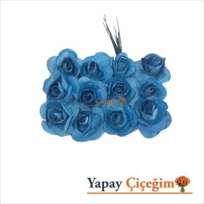 Mavi Kağıt Gül - Küçük Boy - 144 lü Paket