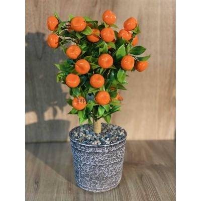 Mandalina Seramik Saksılı Yapay Çiçek
