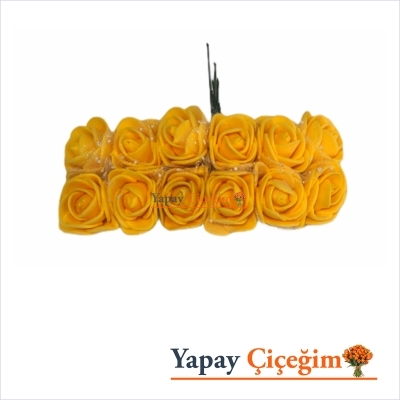 Sarı Lateks Hamur Gül - 144 lü Paket