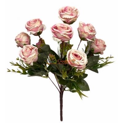 Pembe Gül Yapay Çiçek Demeti