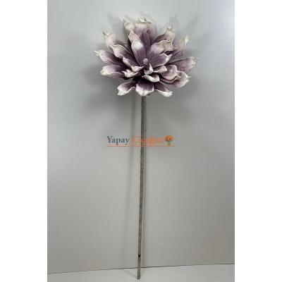 Yapay Mor Manolya Eva Köpük Çiçek Büyük Çiçek