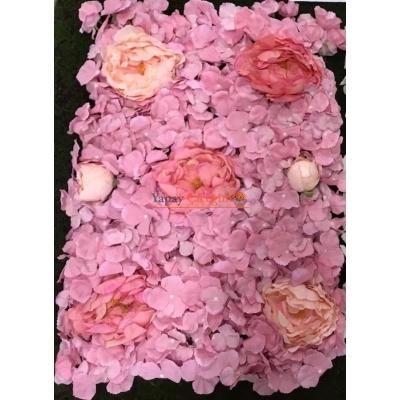 Pembe Çiçekli Duvar Kaplama Paneli 40x60 Cm