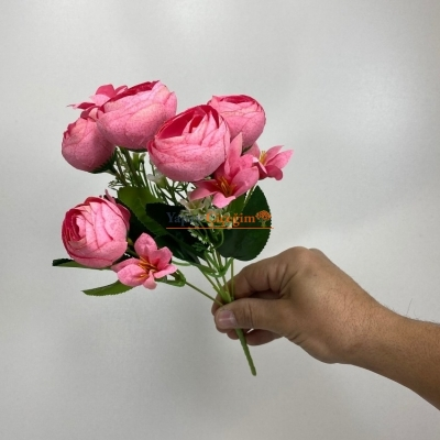Canlı Pembe Küçük Şakayık Çiçeği