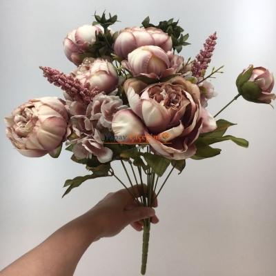 Pudra Pembe Jumbo Şakayık Çiçeği