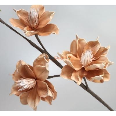 3 Kafa Büyük Zambak Çiçegi - Turuncu Köpük Çiçek - Yapay Çiçek
