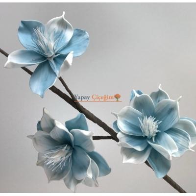 Mavi Zambak - Köpük Çiçek - Büyük Yapay Çiçek