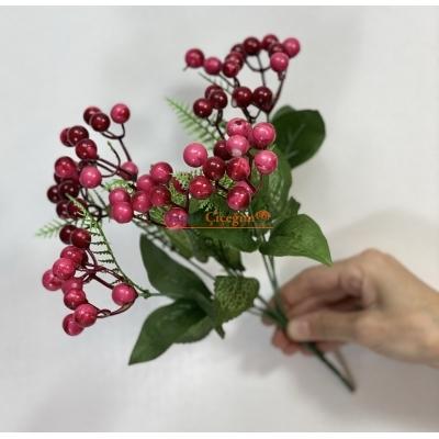 Pembe Yapay Kokina - Kış Çiçeği - Kukina Çiçeği