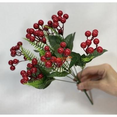 Kırmızı Yapay Kokina - Kış Çiçeği - Kukina Çiçeği