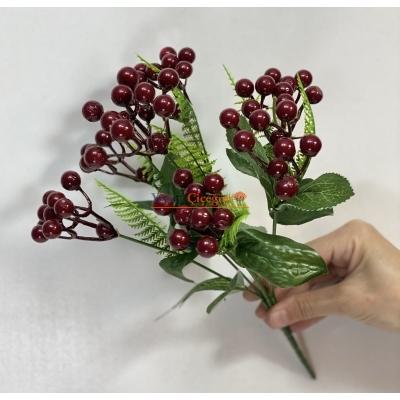 Bordo Yapay Kokina - Kış Çiçeği - Kukina Çiçeği